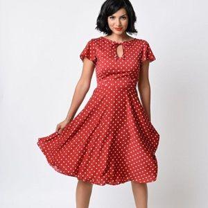 Unique Vintage 40's style flutter sleeve dress XL